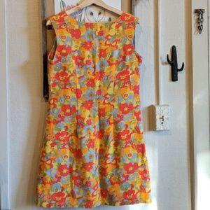 Vintage Dresses - Vintage 60's flower power mini dress